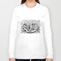 potato Long Sleeve T-shirts featuring Mashed potato by Brabs