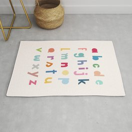 ABC alphabet art Rug