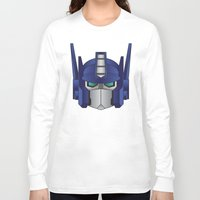 optimus prime Long Sleeve T-shirts featuring Optimus Prime by Tombst0ne