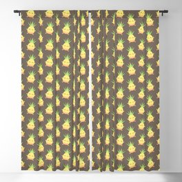 Happy pineapple kids Blackout Curtain