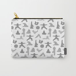 Grey Yoga Pattern Carry-All Pouch
