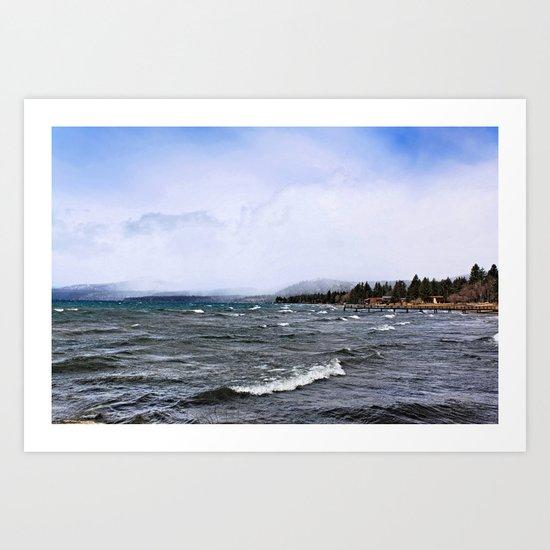 Storm on the Lake Art Print