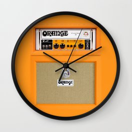 Bright Orange color amplifier amp Wall Clock