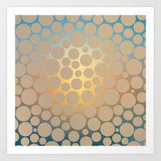 Pastel Polka Dots Art Print