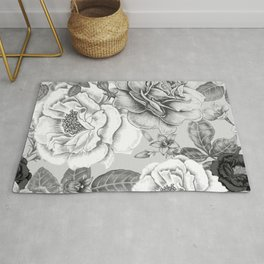 NATURE IN BLACK AND WHITE Rug