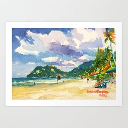 Maracas Chillax Art Print