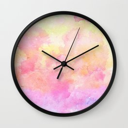 Rainbow Watercolour Gradient Wall Clock