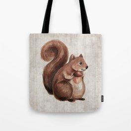 Little Squirrel, Woodland Animals, Forest Friends, Baby Animals, Children's Art Tote Bag