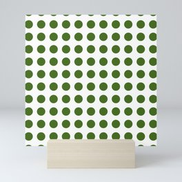 Simply Polka Dots in Jungle Green Mini Art Print