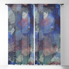 Abstract floral background 136 Blackout Curtain
