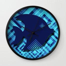 Blue Fish Angel Anglers Angles Wall Clock