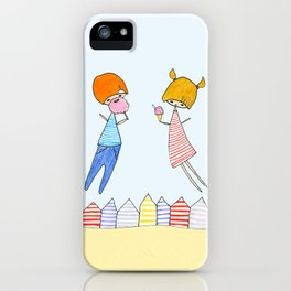 Let's go to the beach! iPhone Case