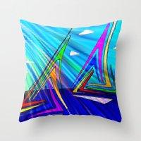 sail Throw Pillows featuring SAIL. by capricorn