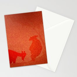 FIERY PET AND ITS MASTER Stationery Cards