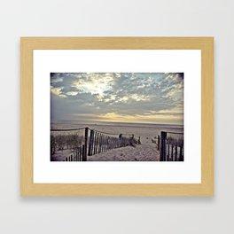 Beach Morning Framed Art Print