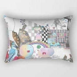 "Illustration ""Cyclist"" Rectangular Pillow"