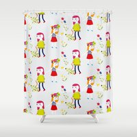 kids Shower Curtains featuring kids by heyme