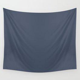 Dark Slate Blue Gray Wall Tapestry