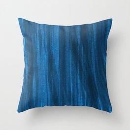 Dark Blue Falling Throw Pillow