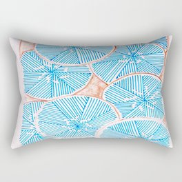 Frosted Flowers Rectangular Pillow