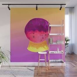 Mystical Crystal Ball for Fortune Telling with Yellow Magenta Gradient Wall Mural