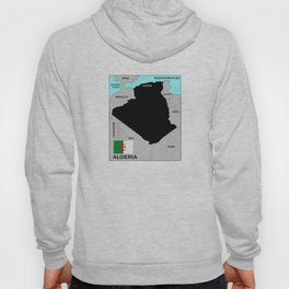 political map of Algeria country with flag Hoody