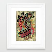carousel Framed Art Prints featuring Carousel by Tuky Waingan