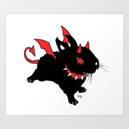 Evil Bunny Art Print