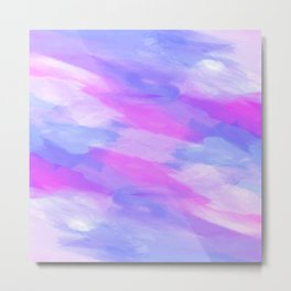 Watercolor Abstract Texture in Pastel Colors Metal Print