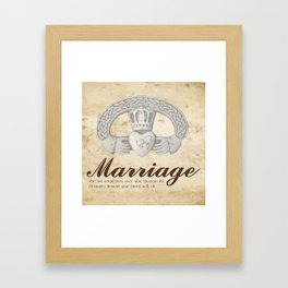 May Marriage Framed Art Print