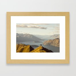 Lovers in Wanaka Framed Art Print