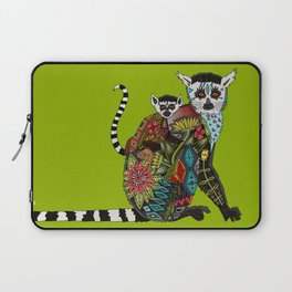 ring tailed lemur love lime Laptop Sleeve