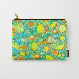 Abstract Citrus pattern drawing Carry-All Pouch