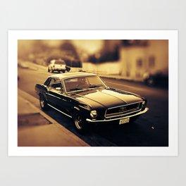 Vintage Mustang Art Print