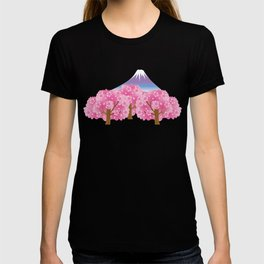 Sakura and Mt.Fuji T-shirt