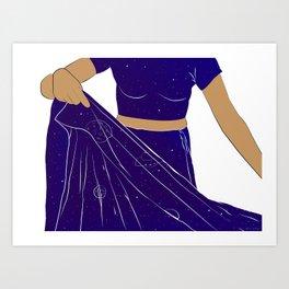 Sari of Universe Art Print