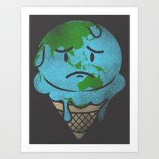 Earth's Melting Point Art Print