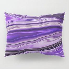 Purple Waves Abstract Art, Digital Fluid Art Ripples Blend Pillow Sham