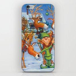 Elf Karl and the Reindeer iPhone Skin