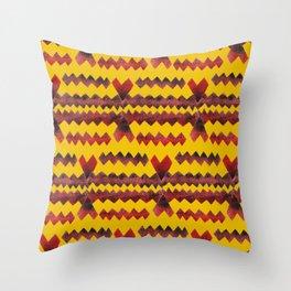 Ethnic diamond Throw Pillow