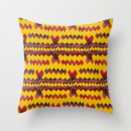 Ethnic diamond Throw Pillow