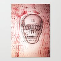 palo alto Canvas Prints featuring Palo Skull by katimarco
