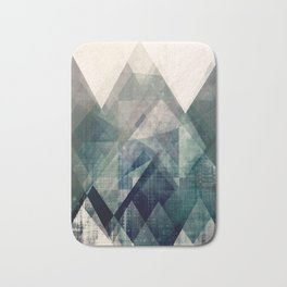 Mountains print, Abstract print, geometric wall art, abstract mountain, minimalist art, modern art, Bath Mat