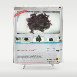 Proto-Wig Shower Curtain
