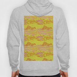 Abstract Waves in Neon Yellow Hoody