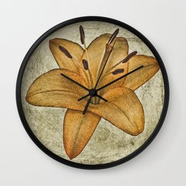 Textured lily Wall Clock