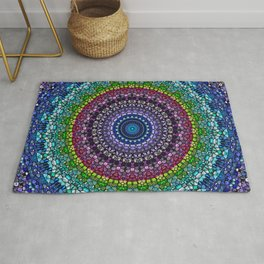 Magical Gems Kaleidoscope Rug
