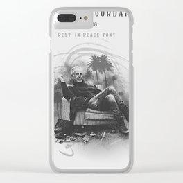 Anthony Bourdain RIP Clear iPhone Case