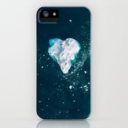 Heart of Winter - Aerial view of Icebergs in the arctic Ocean iPhone Case