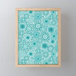 Ceramic Flowers (Atoll) Framed Mini Art Print